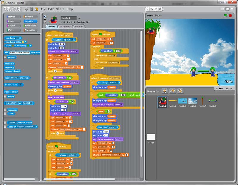 Scratch简介及程序下载